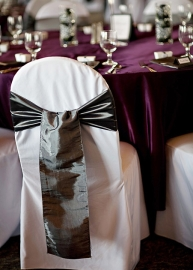Satin Sashes chair covers
